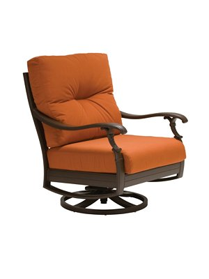 deep seating outdoor swivel action lounger