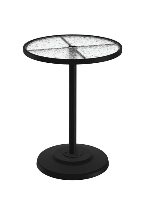 acrylic pedestal patio bar table
