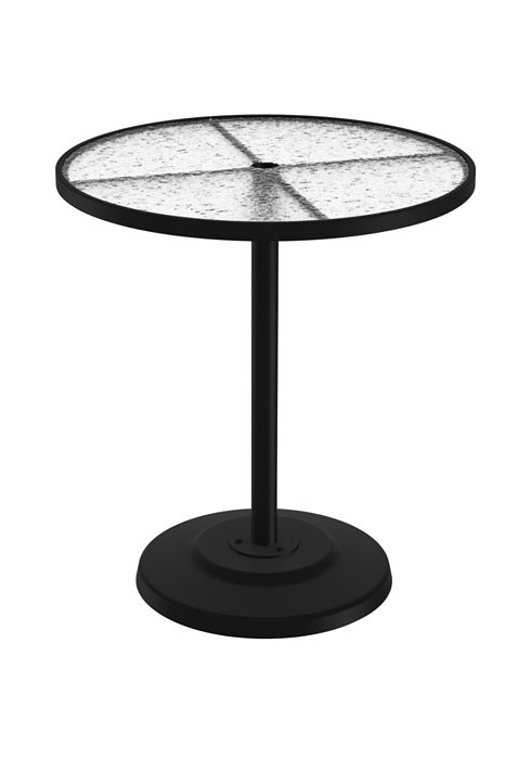 acrylic patio round pedestal bar table