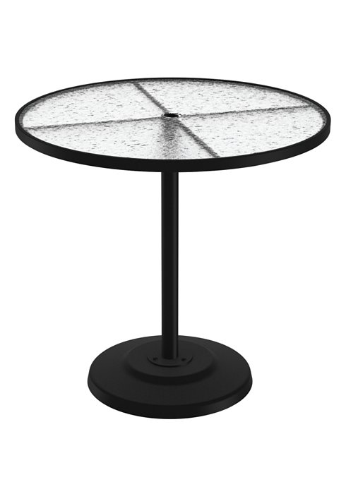 round acrylic pedestal patio bar table