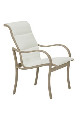padded sling dining chair outdoor