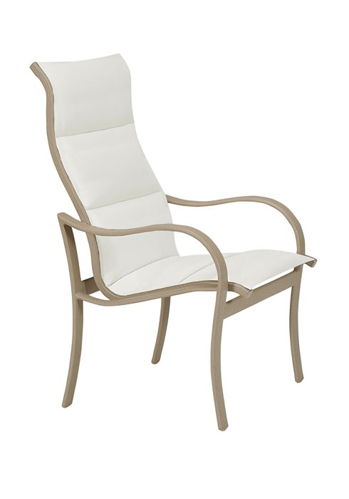 high back dining chair outdoor padded sling