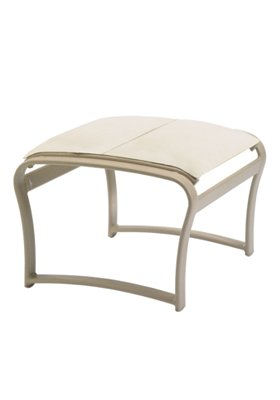 padded sling ottoman for patio