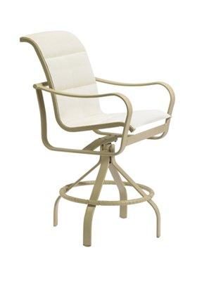 swivel bar stool patio padded sling