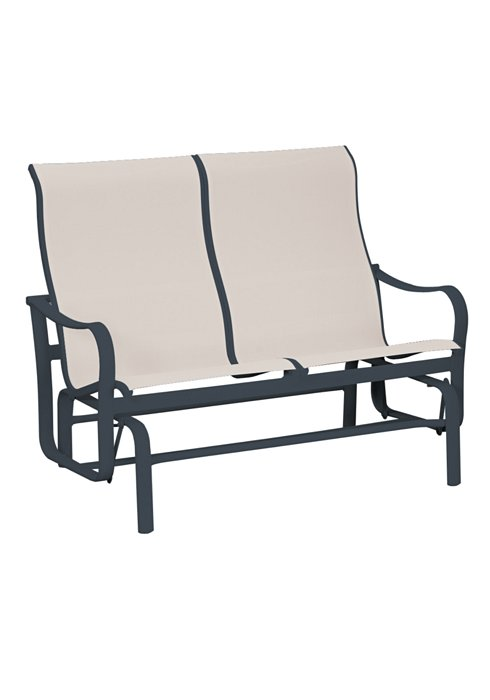 patio modern sling double glider