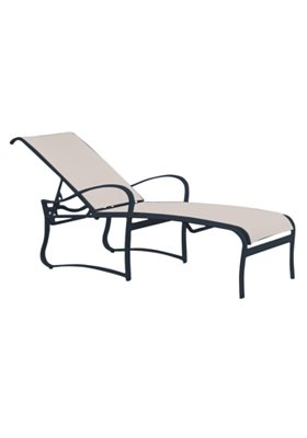 modern sling patio chaise lounge