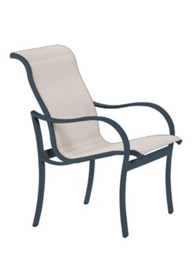 sling modern outdoor dining chair