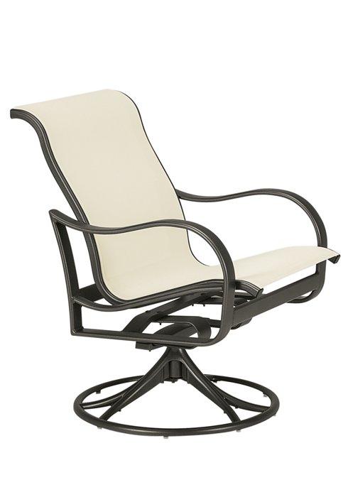 modern sling outdoor swivel rocker