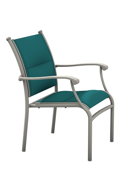 padded sling dining patio chair