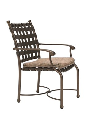 strap patio dining chair