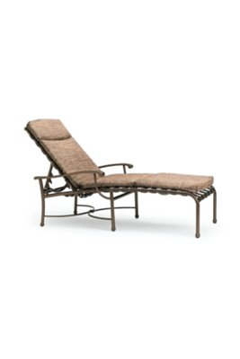 patio strap chaise lounge full pad