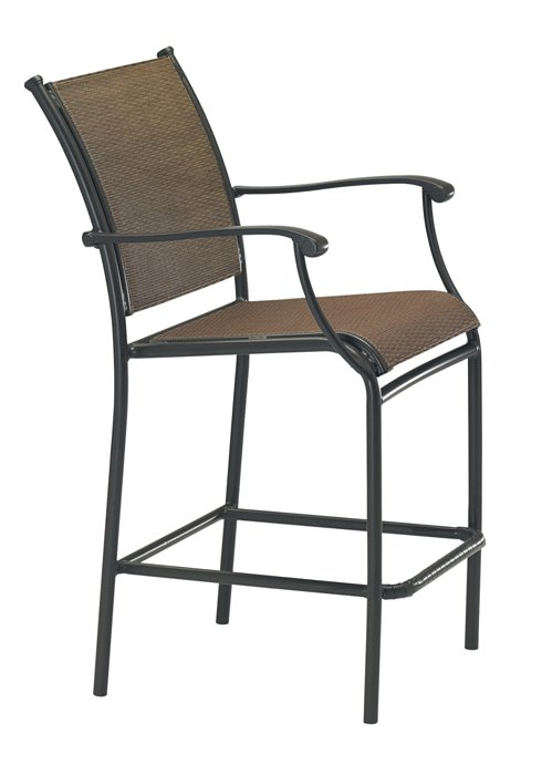 outdoor stationary bar stool relaxed sling