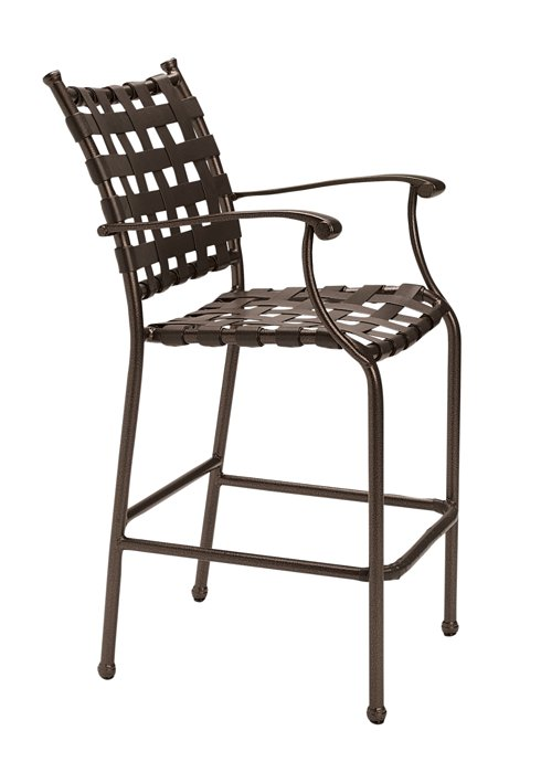 strap bar stool for outdoor