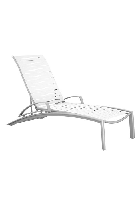 wave segment patio chaise lounge