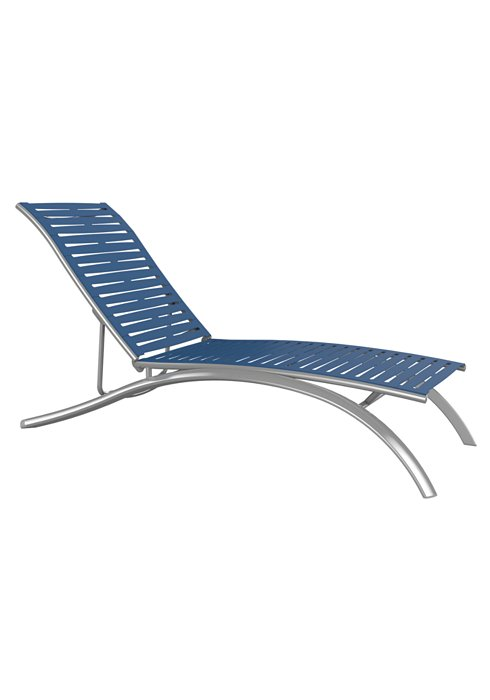 ribbon segment patio armless chaise lounge