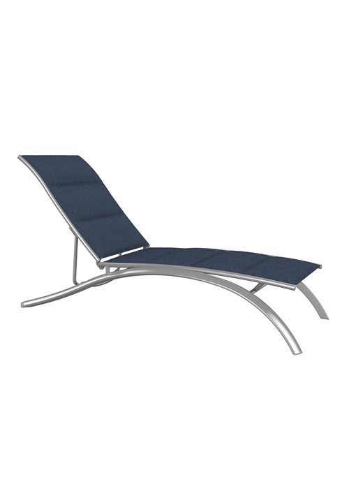elite padded sling patio chaise lounge