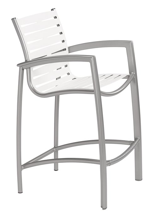 ribbon segment outdoor bar stool