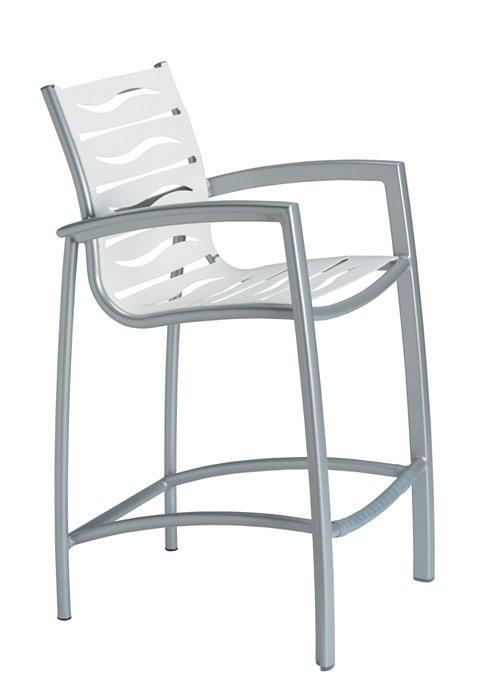 patio wave segment bar stool