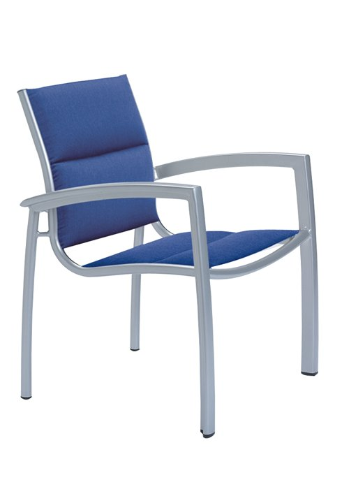 padded sling dining chair for outdoors
