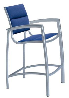 patio bar stool padded sling