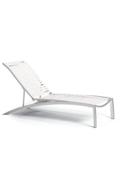patio ribbon segment armless chaise lounge