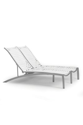 patio ribbon segment double chaise lounge armless