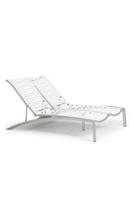 patio wave segment armless double chaise lounge