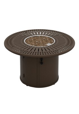 outdoor manual ignition round fire pit