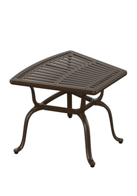 outdoor wedge end table