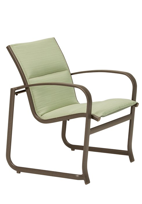 padded sling outdoor modern dining chair