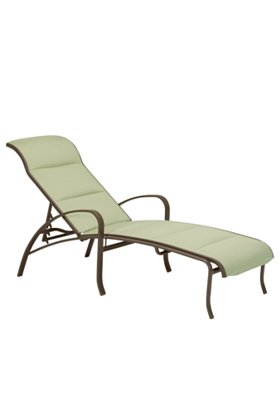 padded sling modern patio chaise lounge