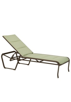 padded sling outdoor chaise lounge armless