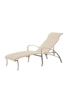 modern sling outdoor chaise lounge