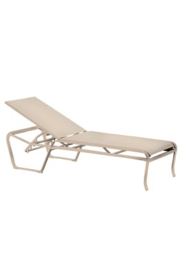 patio modern sling chaise lounge