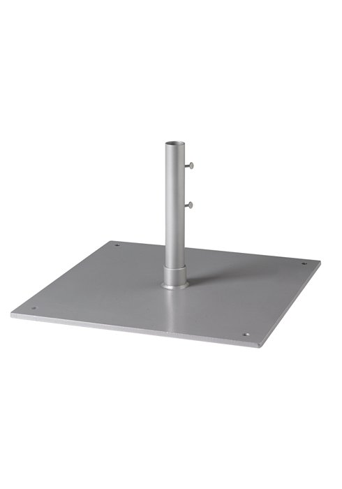 "Steel Plate Base, 24"" Square, 1.5"" Pole, Free Standing"