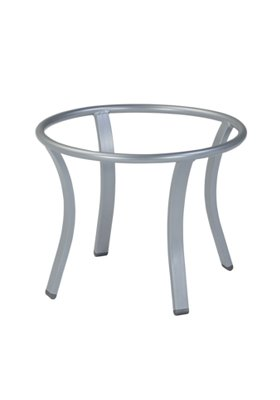 modern round patio tea table base