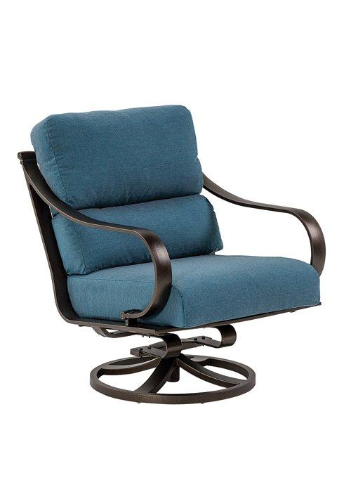modern cushion patio swivel action lounger