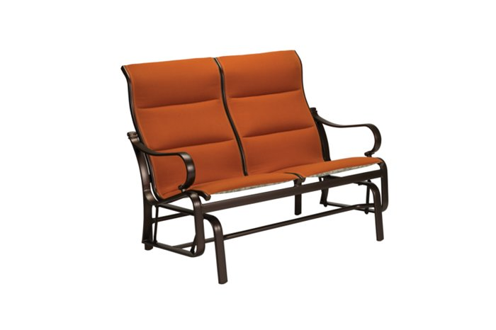 padded sling modern outdoor double glider