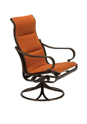 modern padded sling swivel rocker high back