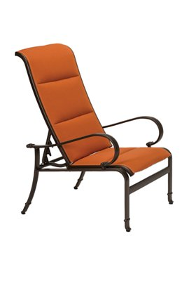 patio modern padded sling recliner