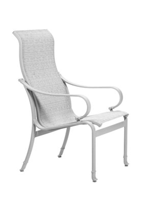 modern patio sling high back dining chair