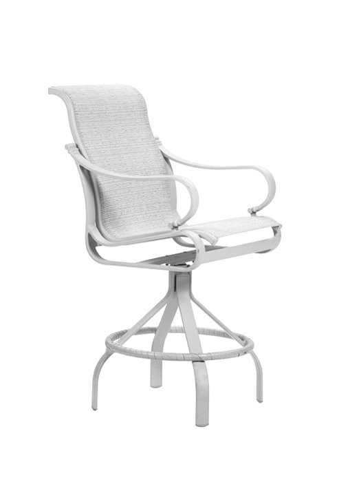 patio sling modern swivel bar stool