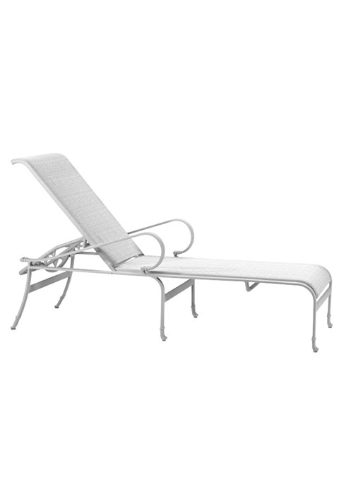 Patio Furniture Chaise Cushions: Torino Sling Chaise Lounge