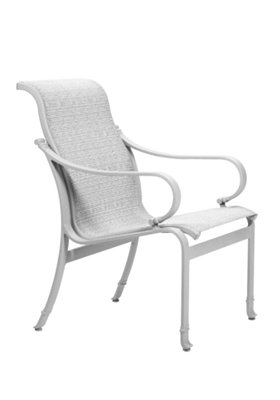 sling patio modern dining chair