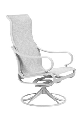 sling patio high back outdoor swivel rocker