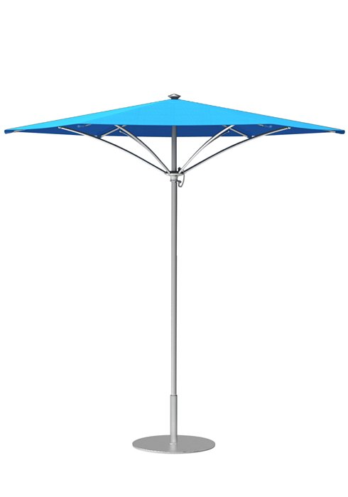 hexagon patio manual lift umbrella