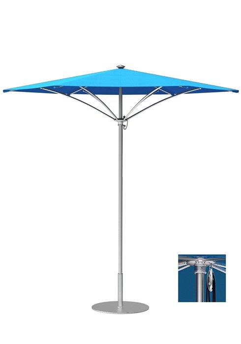 patio aluminum hexagon umbrella