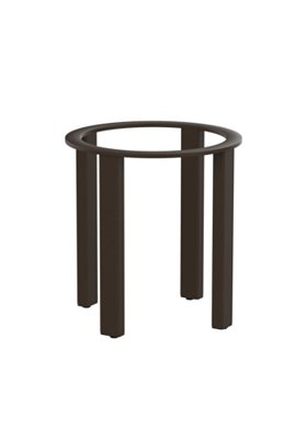 outdoor end table base aluminum