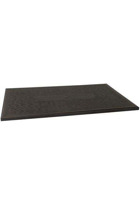 outdoor rectangular table top textured
