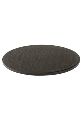 rounded textured outdoor table top
